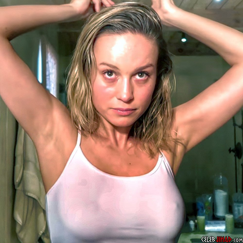 Larson tits brie Brie Larson